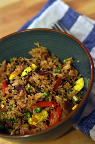 Bacon Fried Rice by Snowflake Kitchen